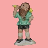 """1930s German Bisque Doll Sized Gnome """"Rubezahl"""" WHW Charity Figurine"""