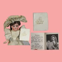 "Vintage Miniature Doll Size ""The Little Bible"" Book!"