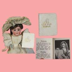 "Vintage Miniature Doll Size ""The Little Bible"" Book!"