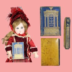 Gorgeous! Antique 1883 Mini Doll Sized Literary Book w Beautiful Covers! David Bryce & Son