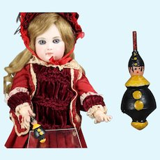 Doll German Mini Wood Spinning Top Clown Erzgebirge WHW Charity!