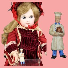 1930s German Bisque Doll Sized Cook Chef Pin WHW Charity Figurine!