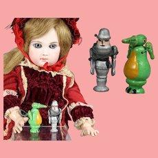 Doll Dollhouse German Mini Wood Knight & Dragon Erzgebirge WHW Charity!