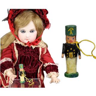 Doll Dollhouse German Mini Wood SOLDIER Christmas Ornament Erzgebirge WHW Charity!