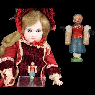 Darling Doll Dollhouse German Girl Mini Wood Erzgebirge WHW Charity!
