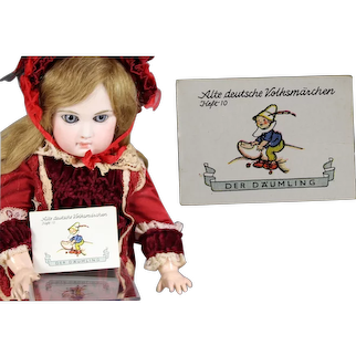 """1930s German Bisque Doll Sized """"Tom Thumb"""" WHW Charity Mini Story Book!"""