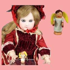 Doll Dollhouse German Wood ANGEL Christmas Ornament Erzgebirge WHW Charity!