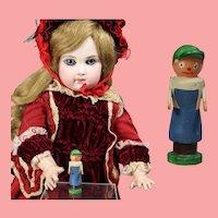 Darling Doll Dollhouse German Mini Wood LITTLE BOY Erzgebirge WHW Charity!