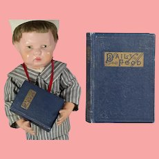 """Antique c1900s Miniature Doll Sized Book """"Daily Food"""""""