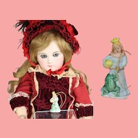 """1930s German Bisque Doll Sized Princess """"The Frog Prince"""" WHW Charity Figurine"""