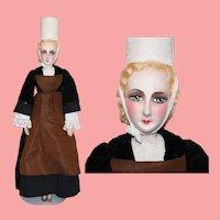 "Antique c1920s French Bretagne Brittany 27"" Large Boudoir Doll France!"