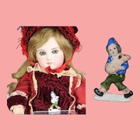 """1930s German Bisque Doll Size Grimm's Fairy Tale """"Hans In Luck"""" WHW Charity Figurine"""