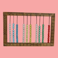 Beautiful Antique French Small Abacus c Glass Beads! Doll Sized!