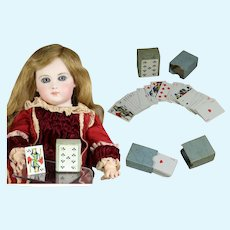 Darling Antique Tiny Swiss Doll Sized Playing Cards Deck Muller & Cie!