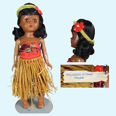 Vintage 1950s Ginny Type Willadean of Hawaii Hula Doll!
