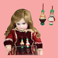 Doll German Mini Wood Spinning Tops Bavarian Couple Erzgebirge WHW Charity!