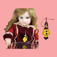 Doll German Mini Wood Spinning Top Clown Pierrot Erzgebirge WHW Charity!