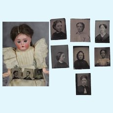 Antique Civil War Mini Tintypes for Doll Dollhouse!