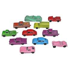 11 Vintage 1960s Midgetoy Tootsie Toy Tootsietoy Metal Toy Cars!