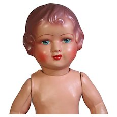 """Lovely Face! Vintage 1940s 15"""" French Imperiaal Jointed Composition Doll!"""