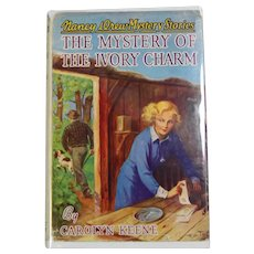 1940s Nancy Drew HBDJ Book Mystery of the Ivory Charm w Beautiful Cover!