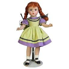 "All Orig! 14"" Mme Alexander KATHY Maggie Face Redhead Doll w Braids!"