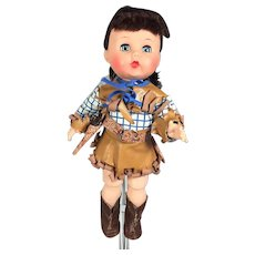 1950s Arranbee Littlest Angel Doll Factory Cowboy Outfit!