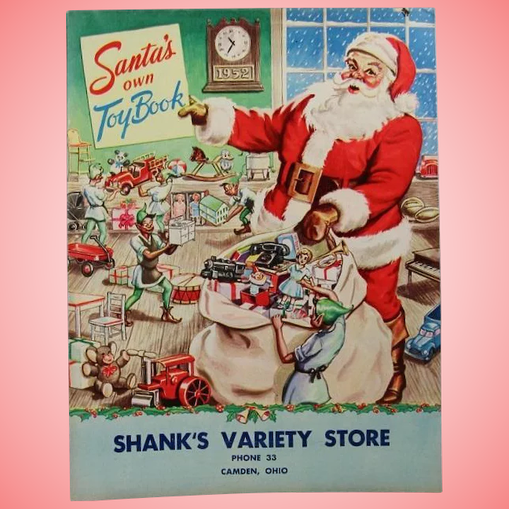 Christmas Toy Catalogs By Mail.Neat 1952 Christmas Toy Doll Catalog With Dolls Ideal Toni Saucy Walker Etc
