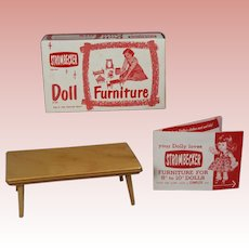 Vintage Ginny Muffie Strombecker Doll Coffee Table in Orig Box