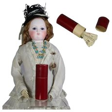 Antique French Red Box for Fashion Doll Accessories! LAST ONES!