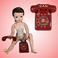 Vintage 1960s Doll Size Red Telephone!