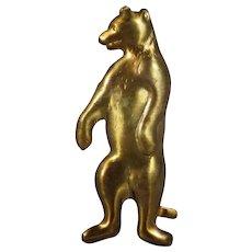 Vintage Roosevelt Teddy Bear Brass Finding!
