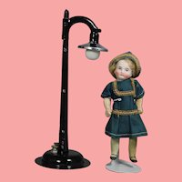 Darling 1940s Perfect Doll Sized Street Lamp in Orig Box!