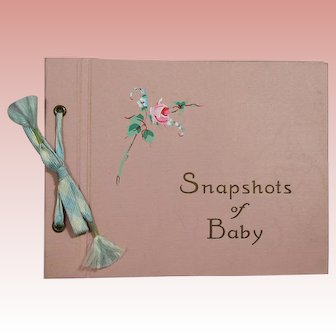 Darling! Vintage c1940s Unused Small Baby Book!