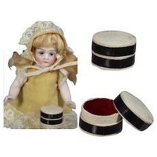 Antique Tiny Round Box for Doll Accessories!