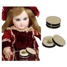 Antique Small Round Box for Doll Accessories!
