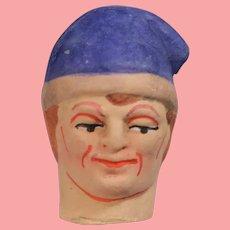 Antique German Jester Doll Head!