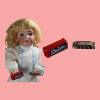 Old Store Stock Doll Sized Mini Harmonica - Occupied Japan in Orig Box!