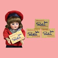 Vintage Doll Sized French Chocolate Advertising School Slate Sponges!