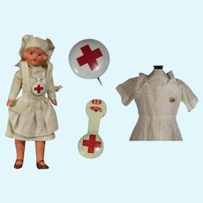 2 Vintage Red Cross Pins for your Doll!