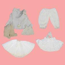 "Doll Whites! Vintage Doll Slips Pantaloons Etc! 12""-16"""