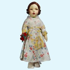 Gorgeous Vintage Spanish Munecas Pages Cloth Doll Valenciana Lenci Type!
