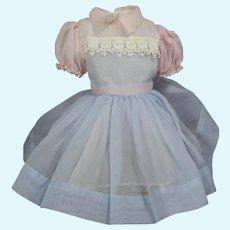 "Vintage Ideal 17"" Flirty Eye Vinyl Doll Shirley Temple Orig Factory Dress!"