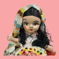 Vintage 1940s Mexican Composition Souvenir Doll!