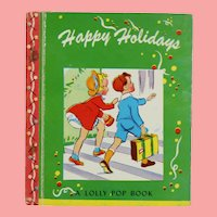 "Vintage 1943 Miniature Doll Sized Story Book ""Happy Holidays""!"