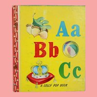 "Vintage 1949 Miniature Doll Sized ""ABC"" Story Book!"