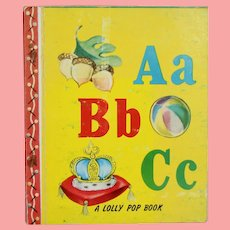 """Vintage 1949 Miniature Doll Sized """"ABC"""" Story Book!"""