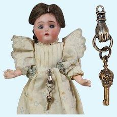Lovely Doll Chatelaine Mini Key w Beautiful Hand!