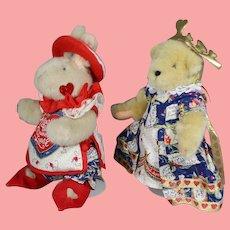 Muffy Vanderbear Alice Wonderland Knave & Queen of Hearts Bear & Bunny