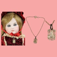 Vintage French Doll Necklace Our Lady of Lourdes